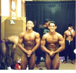 Backstage with one of my friend's and past training partner in 1996