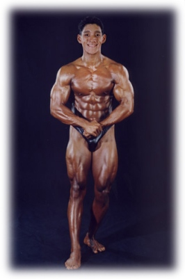 My favorite picture to date, taken backstage after the pre judging in 1996